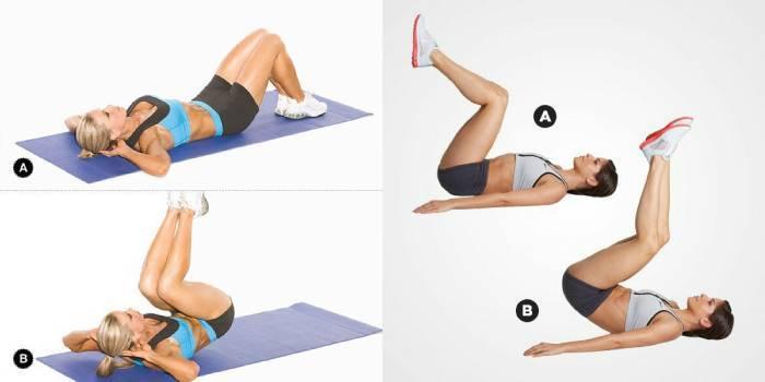 Ефективні вправи для м'язів нижньої частини живота і талії