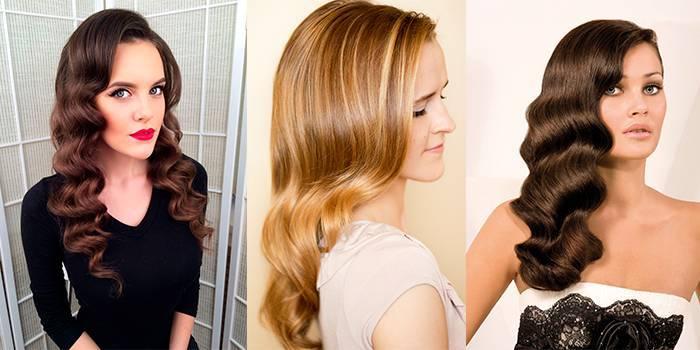 Красиві жіночі ретро-зачіски