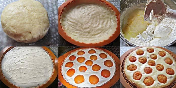 Рецепт пирога з сиру і абрикосів