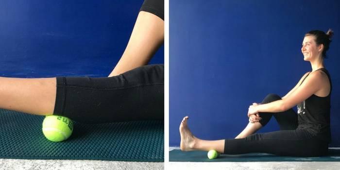 Розслаблення тригерних точок тенісним м'ячиком