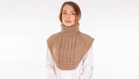 Шарф з горловиною (23 фото): як носити шарф з горлом і плечима