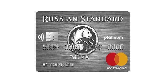 Умови оформлення та користування кредитки Русский стандарт