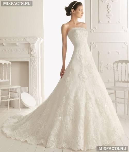 Весільні довгі мереживні сукні (фото)