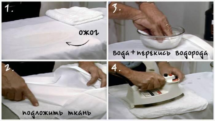 Як видалити пляму від прасування на одязі