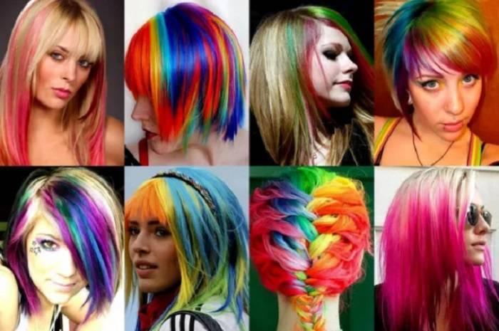 Як використовувати кольорові крейди для фарбування волосся