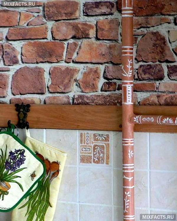 Як заховати газові труби на кухні при ремонті – дизайн ідеї з фото
