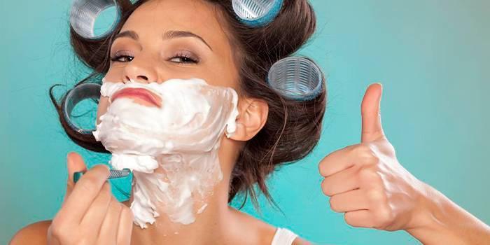Засоби для видалення волосся на обличчі