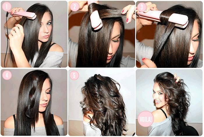 Завивка і випрямлення волосся праскою