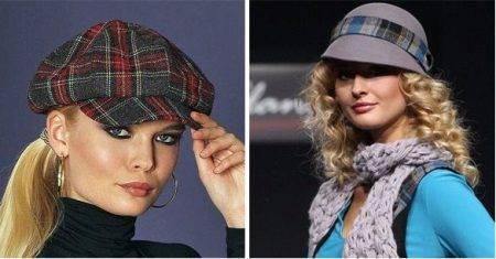 Жіночі осінні кепки (50 фото)